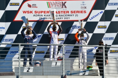 THE WSK SUPER MASTER SERIES OF ADRIA GOES TO GUSTAVSSON (KZ2), CAMARA (OK), AL DHAHERI (OKJ) AND LAMMERS (MINI)