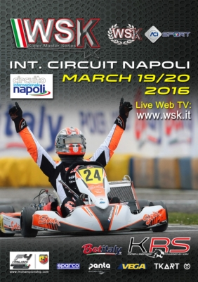 THE INTERNATIONAL CIRCUIT NAPOLI OF SARNO (I) HOSTS THE SECOND ROUND OF THE WSK SUPER MASTER SERIES 2016 FROM THURSDAY 17TH TO SUNDAY 20TH MARCH,