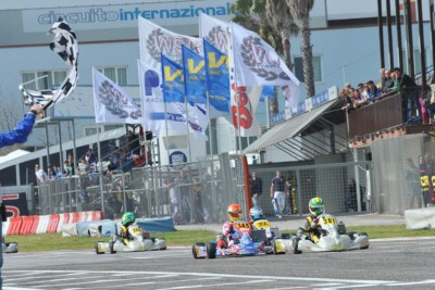 QUALIFYING HEATS OF THE WSK SUPER MASTER SERIES IN SARNO (I): THE POLE SITTERS OF THE PREFINALS ARE LORANDI (I - TONY KART-VORTEX KZ2), NIELSEN (DK - TONY KART-VORTEX OK) AND BLOMQVIST (S - TONY KART-VORTEX OKJ), WITH LAMMERS (NL - SODI-TM) FIRST IN KZ. Gallery