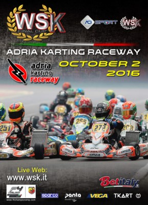THE WSK FINAL CUP AT THE ADRIA KARTING RACEWAY IS COMING. IT WILL BE THE CLOSING EVENT OF A GREAT WSK PROMOTION SEASON WITH THE CATEGORIES KZ2 - OK - OK JUNIOR AND 60 MINI. Gallery