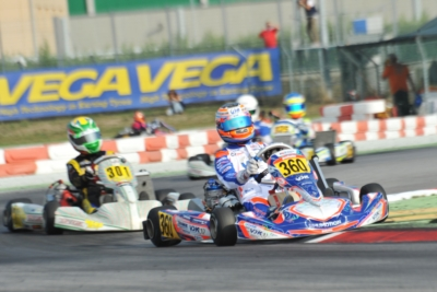 AFTER THE HEATS OF THE WSK FINAL CUP AT THE ADRIA KARTING RACEWAY THE FASTEST DRIVERS ARE ARDIGÒ (I – TONY KART-VORTEX KZ2), BASZ (PL – KOSMIC-VORTEX OK), MARTINS (F –KOSMIC-PARILLA OKJ) AND CAGLIONI (I – EVOKART-TM 60MINI).