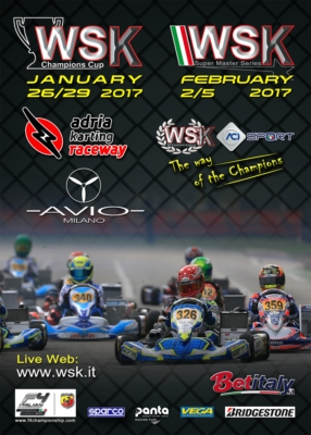200 DRIVERS ARE EXPECTED TO TAKE PART IN THE WSK CHAMPIONS CUP AT THE WEEKEND OF 29TH JANUARY.