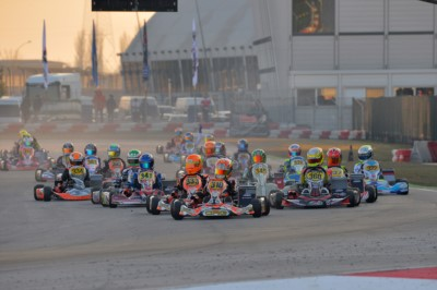 THE BATTLE FOR THE WSK CHAMPIONS CUP HAS BEGUN AT THE ADRIA KARTING RACEWAY. BEST PERFORMANCE IN QUALIFYING FOR CAMPONESCHI (I – CRG-TM KZ2), HAUGER (N - CRG-PARILLA OK), ROSSO (I – TONY KART-VORTEX OKJ) AND ALBANESE (I – RIGHETTI R.-TM 60 MINI). Gallery