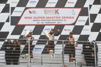 FIRST ROUND OF THE WSK SUPER MASTER SERIES ENDS IN ADRIA (I). THE WINNERS ARE DE PAUW (B – KOSMIC-PARILLA) IN OK, ABBASSE (F – SODI-TM) IN KZ2, ROSSO (I – TONY KART-VORTEX) IN OK JUNIOR AND SPINA (I – CRG-TM) IN 60 MINI. Gallery