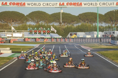 AT THE WORLD CIRCUIT LA CONCA (I), THE 3RD ROUND OF THE WSK SUPER MASTER SERIES: BEST PERFORMANCE FOR LAMMERS (SODI-TM KZ2), HAUGER (CRG-PARILLA OK), THOMPSON (FA KART-VORTEX OKJ) AND ANTONELLI (TONY KART-VORTEX 60MINI).