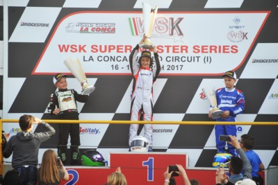 SPECTACULAR RACES IN MURO LECCESE (LE) AT THE WSK SUPER MASTER SERIES. THE WINNERS ARE HAJEK (KOSMIC-VORTEX KZ2), NOVALAK (TONY KART-VORTEX OK), MARSEGLIA (ZANARDI-PARILLA OKJ – SUB-JUDICE) AND MINÌ (PAROLIN-TM 60MINI). Gallery