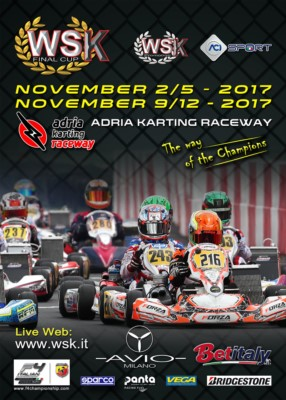 OVER 200 ENTRANTS TO THE WSK FINAL CUP, THE FINAL CHALLENGE WHICH – WITH ITS DOUBLE EVENT ON 5TH AND 12TH NOVEMBER – MARKS THE END OF THE WSK PROMOTION SEASON. INTERNATIONAL TEAMS AND DRIVERS ARE EAGER TO CHALLENGE EACH OTHER AT THE ADRIA KARTING RACEWAY Gallery