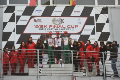 GRIPPING FINALS IN ADRIA. THE WINNERS OF THE 1ST ROUND OF THE WSK FINAL CUP ARE TRAVISANUTTO (I – ZANARDI-PARILLA OK), LORANDI (I – TONY KART-VORTEX KZ2),  GUSTAFSSON (S – TONY-VORTEX OKJ) AND BEDRIN (RUS – TONY-TM 60 MINI).
