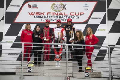 SURPRISING FINAL RACES OF THE  WSK FINAL CUP AT ADRIA. NIELSEN (DK – TONY KART-VORTEX OK), STANEK (CZ – KOSMIC-VORTEX OKJ), IACOVACCI (I – LUXOR-LKE KZ2) AND SPINA (I – CRG-TM 60MINI) WON THE FINALS AND THE SERIES. Gallery