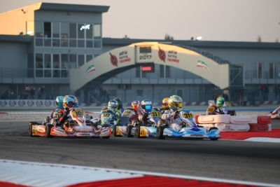 WSK PROMOTION IS WORKING ON THE 2018 SEASON. BRIDGESTONE, VEGA AND PANTA ARE THE TECHNICAL PARTNERS. PRE-SEASON TESTS ON 20TH AND 21ST JANUARY AT THE ADRIA KARTING RACEWAY, A WEEK BEFORE THE SEASON OPENER, THE WSK CHAMPIONS CUP. Image