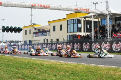 DRIVERS READY FOR THE FINAL PHASE OF THE 3RD ROUND OF WSK SUPER MASTER SERIES: DE CONTO (I – CRG-TM KZ2), NIELSEN (DK – TONY KART-VORTEX OK), BEGANOVIC (S – TONY KART-VORTEX OKJ) AND ANTONELLI (I - ENERGY-TM 60 MINI) ON TOP IN MURO LECCESE (LE) AFTER HEAT