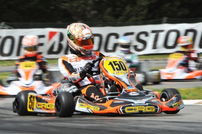 WSK SUPER MASTER SERIES HEADING FROM MURO LECCESE TO SARNO WITH THE FOLLOWING LEADERS: DE CONTO (I – CRG-TM KZ2), JANKER (D – KR-PARILLA OK), SMAL (RUS – TONY KART-VORTEX OKJ) AND STENSHORNE (N - PAROLIN-TM 60 MINI).