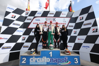 THE SPRINT TO THE LINE IN WSK SUPER MASTER SERIES HAS STARTED. IN SARNO (SA), VICTORY TO ARDIGÒ (I - TONY KART-VORTEX KZ2), NIELSEN (DK – TONY KART-VORTEX OK) MINÌ (I – PAROLIN-PARILLA OKJ) AND KUCHARCZYK (PL – PAROLIN-TM 60 MINI).