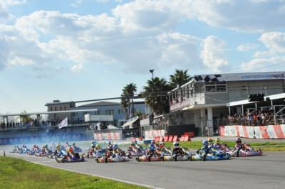 WSK SUPER MASTER SERIES READY TO RACE IN SARNO: POLE POSITIONS OF THE 4TH AND CLOSING ROUND GOING TO VIGANÒ (I – TONY KART-VORTEX KZ2), MALONEY (BRB – FA KART-VORTEX OK), SPINA (I – CRG-TM OKJ) AND MATVEEV (I - CRG-TM 60MINI).