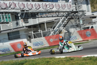 WSK SUPER MASTER SERIES IN SARNO, RED HOT SPRINT TO THE LINE: VIGANÒ (I – TONY KART-VORTEX KZ2), JANKER (D – KR-PARILLA OK), ARON (E – FA KART-VORTEX OKJ) AND MATVEEV (RUS - CRG-TM 60MINI) QUICKEST IN THE HEATS.