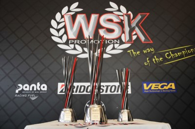 WSK OPEN CUP READY TO AWARD ITS TROPHIES THAT FEATURE A DESIGNED INSPIRED TO F.1 AND WILL BE PRESENTED TOMORROW AT SOUTH GARDA KARTING IN LONATO. Gallery