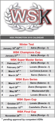 KARTING SEASON 2019 IS BEING DEVISED: UNVEILED THE NEW WSK PROMOTION CALENDAR.