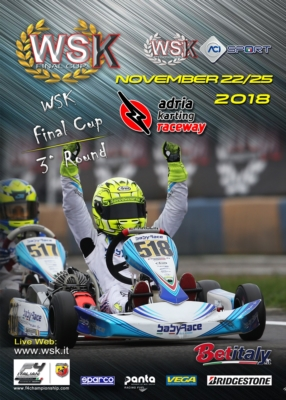 GRAND FINALE OF WSK FINAL CUP AT THE ADRIA KARTING RACEWAY: THE FINAL APPOINTMENT TO CROWN THE WINNERS OF CATEGORIES OK, KZ2, OK JUNIOR AND 60 MINI FROM NOVEMBER 22ND TO 25TH.