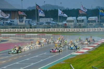 QUICKEST TIME IN QUALIFYING FOR TIBEKIN (RUS – DR-TM 60 MINI), WHARTON (AUS – FA-VORTEX OKJ), RENAUDIN (F – SODI-TM KZ2) AND ROSSO (I – PAROLIN-TM OK) AT THE ADRIA KARTING RACEWAY. THE FINAL CHALLENGE FOR THE WSK FINAL CUP IS ON WITH 230 DRIVERS IN ADRIA