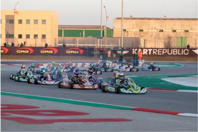 THE QUICKEST DRIVERS IN QUALIFYING KICKED OFF WSK CHAMPIONS CUP: AT THE ADRIA KARTING RACEWAY BARNARD (GB – KR-IAME OK), WHARTON (AUS FA-VORTEX OKJ) AND ORLOV (RUS – PAROLIN-TM 60MINI) TO THE FORE. Gallery
