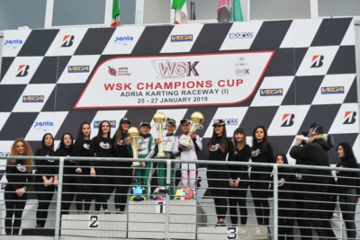 WSK CHAMPIONS CUP NAMED THE FIRST TOP DRIVERS OF 2019 KARTING SEASON: BARNARD (GB – KR-IAME OK), DUNNE (IRL EXPRIT-TM OKJ) AND FILAFERRO (I – TONY KART-TM 60MINI) ARE THE WINNERS IN ADRIA.