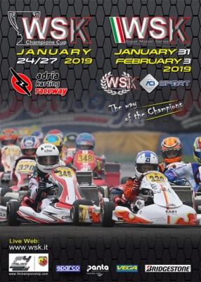 WSK SUPER MASTER SERIES KICKS OFF WITH THE FIRST OF THE 4 ROUNDS OF 2019. THE APPOINTMENT IS AT THE ADRIA KARTING RACEWAY FROM JANUARY 31ST TO FEBRUARY 3RD. Gallery