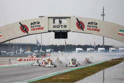 THE FIRST PROTAGONISTS OF WSK SUPER MASTER SERIES CAME TO THE FORE AT THE ADRIA KARTING RACEWAY IN QUALIFYING PRACTICE: OGAARD (DK - TONY KART-VORTEX OK), FERRARI (I - R.RIDOLFI-TM OKJ) AND IRFAN (GB - PAROLIN-TM 60MINI).
