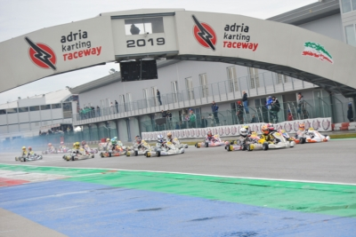 QUALIFYING OF WSK SUPER MASTER SERIES AT THE ADRIA KARTING RACEWAY REWARDED PATTERSON (GB – KR-IAME OK), LAURSEN (DK – FA-VORTEX OKJ) AND KUTSKOV (RUS - ENERGY-TM 60MINI) IN A DIFFICULT DAY OF WET RACES.
