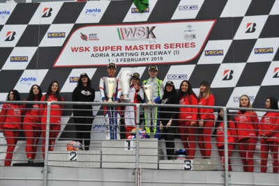 THE FIRST ROUND OF WSK SUPER MASTER SERIES ENDED WITH THE VICTORIES GOING TO TRAVISANUTTO (I – KR-IAME OK), CAMARA (BR – BIRELART-TM OKJ) AND AL DHAERI (ARE - PAROLIN-TM 60MINI) AT THE ADRIA KARTING RACEWAY. Gallery