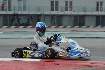PROVISIONAL CLASSIFICATIONS OF WSK SUPER MASTER SERIES NAMED IN ADRIA (I) THE FIRST LEADERS: TRAVISANUTTO (I – KR-IAME OK), CAMARA (BR – BIRELART-TM OKJ) AND DHAERI (ARE - PAROLIN-TM 60MINI).