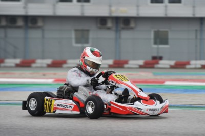 PROVISIONAL CLASSIFICATIONS OF WSK SUPER MASTER SERIES NAMED IN ADRIA (I) THE FIRST LEADERS: TRAVISANUTTO (I – KR-IAME OK), CAMARA (BR – BIRELART-TM OKJ) AND DHAERI (ARE - PAROLIN-TM 60MINI). Gallery