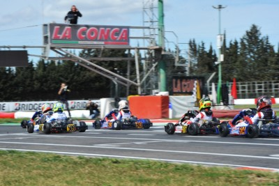 STOPWATCHES TICKING AT THE WORLD CIRCUIT LA CONCA FOR QUALIFYING PRACTICE AND HEATS AHEAD OF THE THIRD ROUND OF WSK SUPER MASTER SERIES. Gallery