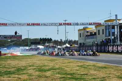 ALL SET FOR THE FINAL DAY IN MURO LECCESE AT THE THIRD ROUND OF WSK SUPER MASTER SERIES: VALTANEN (FIN – KOSMIC-IAME OK), LINDBLAD (GB – EXPRIT-TM OKJ) AND MACINTYRE (GB – PAROLIN-TM 60 MINI) ON TOP AFTER QUALIFYING HEATS.