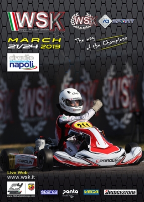 THE CHEQUERED FLAG ON WSK SUPER MASTER SERIES 2019 IN SARNO (I) FROM MARCH 21ST TO 24TH. THE FOURTH AND FINAL ROUND OPEN TO CATEGORIES OK, OK JUNIOR AND 60 MINI TO BE JOINED BY KZ2.