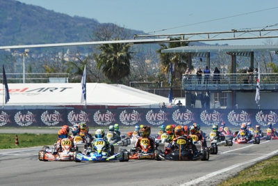 NEARLY 300 ENTERED DRIVERS IN THE FOURTH AND CLOSING ROUND OF THE WSK SUPER MASTER SERIES AT THE INTERNATIONAL CIRCUIT NAPOLI IN SARNO (I). QUALIFYING PRACTICE AND HEATS FROM THURSDAY, MARCH 21ST.