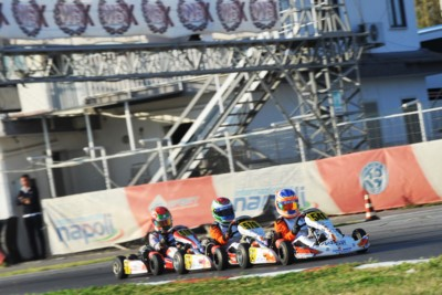 CAMPLESE (I – TONY KART-VORTEX KZ2), PATTERSON (GB – KR-IAME OK), TAPONEN (FIN – KOSMIC-IAME OKJ) AND MACINTYRE (GB – PAROLIN-TM 60MINI) GOT OFF TO A GOOD START AT THE 4TH ROUND OF WSK SUPER MASTER SERIES IN SARNO (I). Gallery