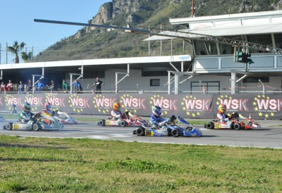 WSK EURO SERIES KICKING OFF FROM SARNO (I) WITH QUALIFYING PRACTICE. ON TOP CAMPLESE (I – TONY KART-VORTEX KZ2), PATTERSON (KR-IAME OK), BEDRIN (RUS – TONY KART-VORTEX OKJ) AND POWELL (JA – ENERGY-TM 60MINI). Gallery