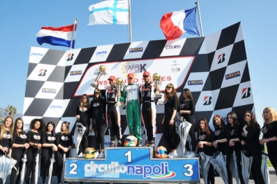 THE FIRST WINNERS IN WSK EURO SERIES IN SARNO (SA) ARE PUHAKKA (FIN – TONY KART-VORTEX KZ2), BEGANOVIC (S – TONY KART-VORTEX OK), BEDRIN (RUS – TONY KART-VORTEX OKJ) AND MACINTYRE (GB – PAROLIN-TM 60MINI).