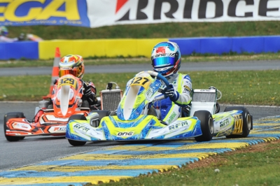 WSK EURO SERIES ROUND 2 QUALIFYING IN  ANGERVILLE (F): THE QUICKEST ARE PATTERSON (GB - KR-IAME OK), TEN BRINKE (NL – FA KART-VORTEX OKJ) AND MARENGHI (I – TONY KART-TM 60MINI).