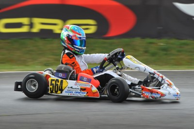 TRAVISANUTTO (I – KR-IAME OK), DE HAAN (NL – ENERGY-TM OKJ) AND MACINTYRE (GB – PAROLIN-TM 60MINI) ON TOP AT HALFWAY THROUGH THE WSK EURO SERIES' CAMPAIGN AFTER ROUND 2 IN ANGERVILLE (F). Gallery
