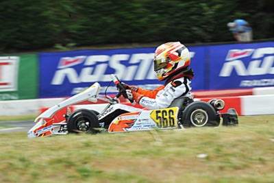 QUALIFYING HEATS OF WSK EURO SERIES IN LONATO (I): PUHAKKA (FIN – TONY KART-VORTEX KZ2), PATTERSON (GB – KR-IAME OK), WHARTON (AUS – FA KART OKJ) AND DEDECKER (B - PAROLIN-TM 60 MINI) ON TOP. Gallery