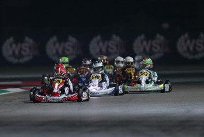 QUALIFYING PRACTICE AT WSK EURO SERIES NIGHT EVENT: THE QUICKEST ARE MINÌ (I – PAROLIN-TM OK), ANTONELLI (I – KR-IAME OKJ) AND KUTSKOV (RUS – ENERGY-TM 60MINI) AHEAD OF QUALIFYING HEATS IN THE SEASON'S CLOSER. Gallery