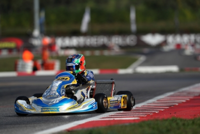 THE WSK OPEN CUP IS UNDERWAY AT SOUTH GARDA KARTING, LONATO. ON POLE POSITION IS POLLINI (I - FORMULA K-TM KZ2), SMAL (RUS - TONYKART-VORTEX OK), ANTONELLI (I - KR-IAME OKJ) AND TSOLOV (BG – PAROLIN-TM 60 MINI).