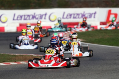 IN THE 1ST ROUND OF THE WSK OPEN CUP IN LONATO (I), PALOMBA (TM KZ2), SMAL (RUS-TONY KART-VORTEX OK) AND ANTONELLI (I - KR-IAME OKJ) ARE IN POLE FOR THE FINAL DAY.