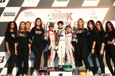 AFTER HARD-FOUGHT FINALS AT THE 1ST ROUND OF THE WSK OPEN CUP AT LONATO (I), KZ2 VICTORY GOES TO PALOMBA (I-BIRELART-TM). BARNARD (GB-KR-IAME OK), ANTONELLI (I-KR-IAME OKJ) AND TSOLOV (BG-PAROLIN-TM 60 MINI) GAIN THE FIRST ROUND.