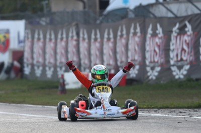 THE WSK OPEN CUP CROWNS IN LONATO (I) KZ2 WINNER PALOMBA (I-BIRELART-TM). THE OTHER LEADERS BARNARD (GB-KR-IAME-OK), ANTONELLI (I-KR-IAME-OKJ) AND TSOLOV (BG-PAROLIN-TM-60MINI) ARE GETTING READY FOR THE FINAL SPRINT IN CASTELLETTO (I). Gallery