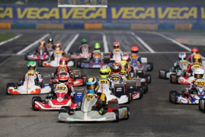 WSK OPEN CUP AT THE CHEQUERED FLAG TOMORROW AT THE 7LAGHI KART: THE BEST AFTER THE HEATS ARE TURNEY (GB – TONY KART-VORTEX OK), STENSHORNE (N – KR-IAME OKJ) AND TSOLOV (BG – PAROLIN-TM 60MINI).