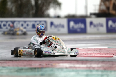 POLE POSITION ALLA WSK FINAL CUP, ALL'ADRIA KART RACEWAY, PER BIZZOTTO (I – FORMULA K-TM KZ2), TRAVISANUTTO (I – TONY KART-VORTEX OK), BEDRIN (RUS – TONY KART-VORTEX OKJ) E AL DHAHERI (ARE – PAROLIN-TM 60 MINI).