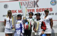 THE WINNERS OF THE WSK MASTER SERIES FINALS IN CASTELLETTO (ITALY): HANLEY (ART GP-TM KZ2), CORBERI (KOSMIC-VORTEX KF), NORRIS (FA KART-VORTEX KFJ), MARSEGLIA (TOP KART-PARILLA 60 MINI). Gallery
