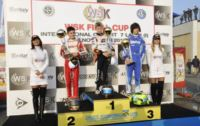 THE WINNERS OF THE WSK FINAL CUP IN CASTELLETTO DI BRANDUZZO (I): HAJEK (CZ – PRAGA-PARILLA KZ2), ILOTT (GB – ZANARDI-PARILLA KF), SHWARTZMAN (RUS – TONY KART-TM) AND FUSCO (I – LENZO-LKE 60MINI).